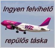Ingyen felvihető repülős táska