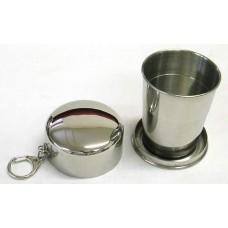 Teleszkópos összecsukható pohár fém